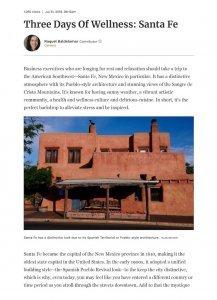 Forbes Three Days Wellness Santa Fe