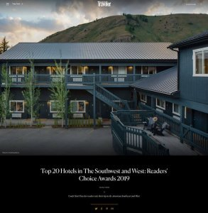 Top 20 Hotels In The Southwest And West Readers' Choice Awards 2019